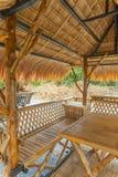Lijst in bamboehut die wordt geplaatst Royalty-vrije Stock Afbeeldingen