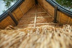 Lijst in bamboehut die wordt geplaatst Stock Afbeeldingen