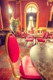 Lijst bij het restaurant van het Station royalty-vrije stock foto