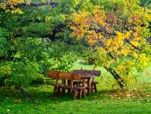 Lijst in de tuin Stock Afbeeldingen