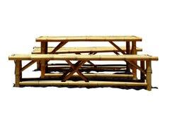 Lijst die van bamboe op witte achtergrond wordt gemaakt royalty-vrije stock fotografie