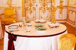Lijst die voor een gebeurtenispartij wordt geplaatst Royalty-vrije Stock Foto's