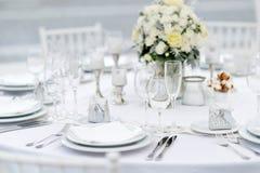 Lijst die voor een van het gebeurtenispartij of huwelijk ontvangst wordt geplaatst Royalty-vrije Stock Foto's