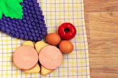 Lijst die voor Ontbijt wordt geplaatst Royalty-vrije Stock Foto's