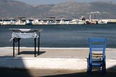 Lijst en stoel Stock Foto