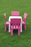 Lijst en stoelen Royalty-vrije Stock Fotografie