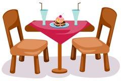 Lijst en stoelen royalty-vrije illustratie