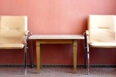Lijst en stoelen Royalty-vrije Stock Afbeeldingen