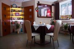 Lijst in het restaurant Stock Fotografie