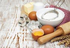 Lijst met bakselingrediënten Royalty-vrije Stock Foto's