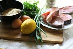 Lijst met bakselingrediënten Stock Foto's