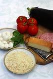 Lijst met bakselingrediënten Royalty-vrije Stock Afbeeldingen