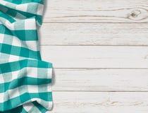 Lijst met cyaan hoogste de meningsachtergrond van de picknickdoek royalty-vrije stock fotografie
