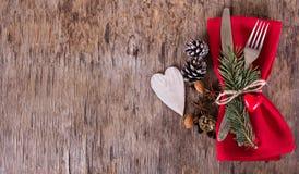 Lijst met de winter, Kerstmisdecoratie wordt geplaatst die Stock Foto's