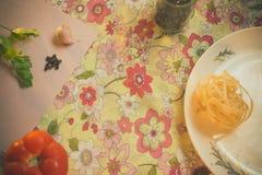 Lijst met elementen voor het koken Eigengemaakt voedsel royalty-vrije stock foto's