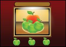 Lijst met fruit royalty-vrije illustratie