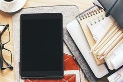 Lijst met lege tablet Royalty-vrije Stock Afbeelding