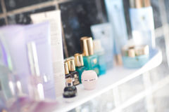 Lijst met parfumerie en room Royalty-vrije Stock Foto