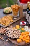 Lijst met snacks Stock Afbeelding