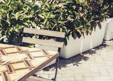 Lijst met stoel op de straat café in Syracuse Siracusa, Sicilië, Italië royalty-vrije stock foto
