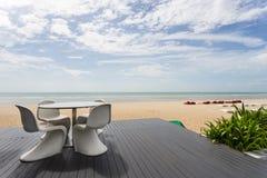 Lijst met strand en overzees wordt geplaatst die Royalty-vrije Stock Foto's