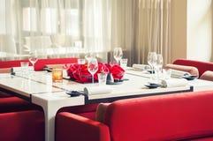 Lijst in Nederlands restaurant Stock Foto
