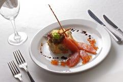 Lijst in restaurant Royalty-vrije Stock Afbeeldingen