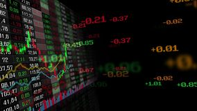 Lijst van de indexen van de beursmarkt stock illustratie