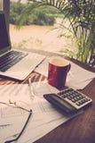 Lijst van financiële manager Stock Foto