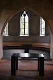 Lijst voor Bijbel binnen Scherzligen-Kerk van Thun Zwitserland Stock Afbeelding