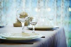 Lijst voor diner stock fotografie