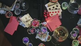 Lijst voor het gokken stock footage