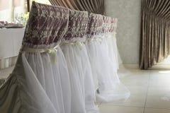 Lijst voor huwelijk of een ander gericht gebeurtenisdiner dat wordt geplaatst Stock Afbeelding