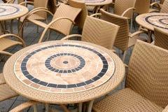Lijsten en stoelen Stock Foto