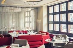 Lijsten in Nederlands restaurant Stock Fotografie