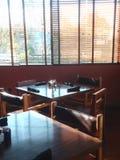 Lijsten in restaurant Royalty-vrije Stock Afbeeldingen