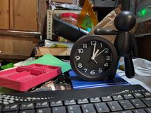 Lijstrommel en tijdconcept stock foto