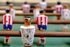 Lijstvoetbal met oude cijfers Stock Foto