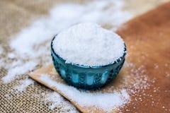 Lijstzout als Natrium-chloride ook wordt bekend dat Royalty-vrije Stock Foto's