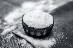 Lijstzout als Natrium-chloride ook wordt bekend dat Royalty-vrije Stock Afbeelding