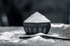 Lijstzout als Natrium-chloride ook wordt bekend dat Stock Afbeeldingen