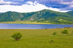 Lika region mountain and lake landscape Stock Photos