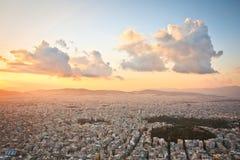 从Likabetus小山的雅典。 库存图片