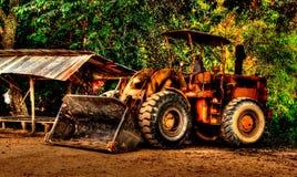 Likadan bulldozer för leksak Royaltyfri Bild