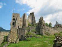 Likava Castle Ruins. Summer View of Likava Castle Ruins in Liptov, Slovakia royalty free stock photo