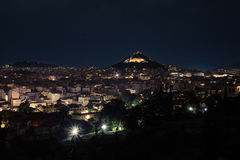 Likavitos. Athens view from Acropolis on Likavitos Royalty Free Stock Photos