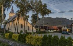 Likavka village in summer sunny morning royalty free stock photo