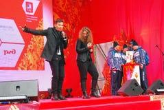 Likbez Lukashina na scenie i Liza Zdjęcia Stock