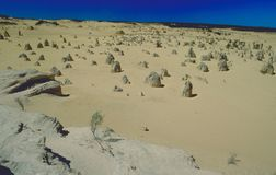 Like another world: The Pinnacles National park in west-australi stock images