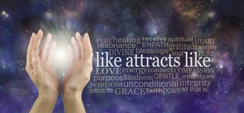 Like Attracts Like so keep your thoughts high frequency